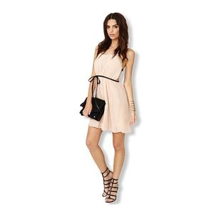 Nude Caged Back Dress From Nasty Gal